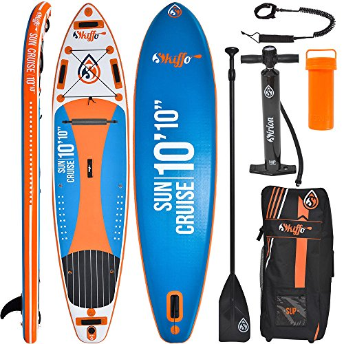 SKIFFO Sun Cruise 10.10 SUP 330 x 82 x 15 cm Inflatable Isup aufblasbar Alu-Paddel Stand Up Paddle Board Set Pumpe Surfboard Paddelset