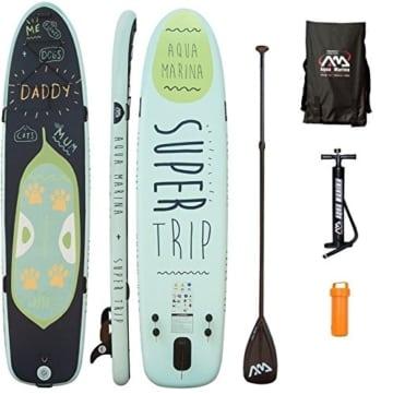 AQUA MARINA, SUPER TRIP+CARBON-Paddle+LEASH, Paddle Board, SUP, 330x75x15 cm - 1