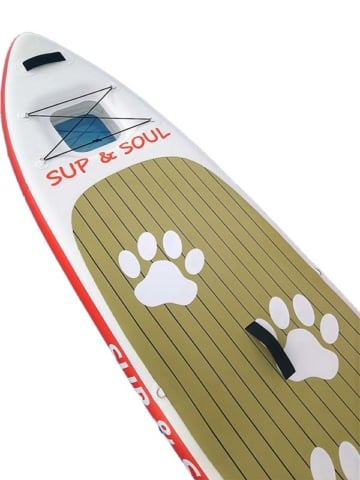 detailansicht des sup boards sup&soul family and dog