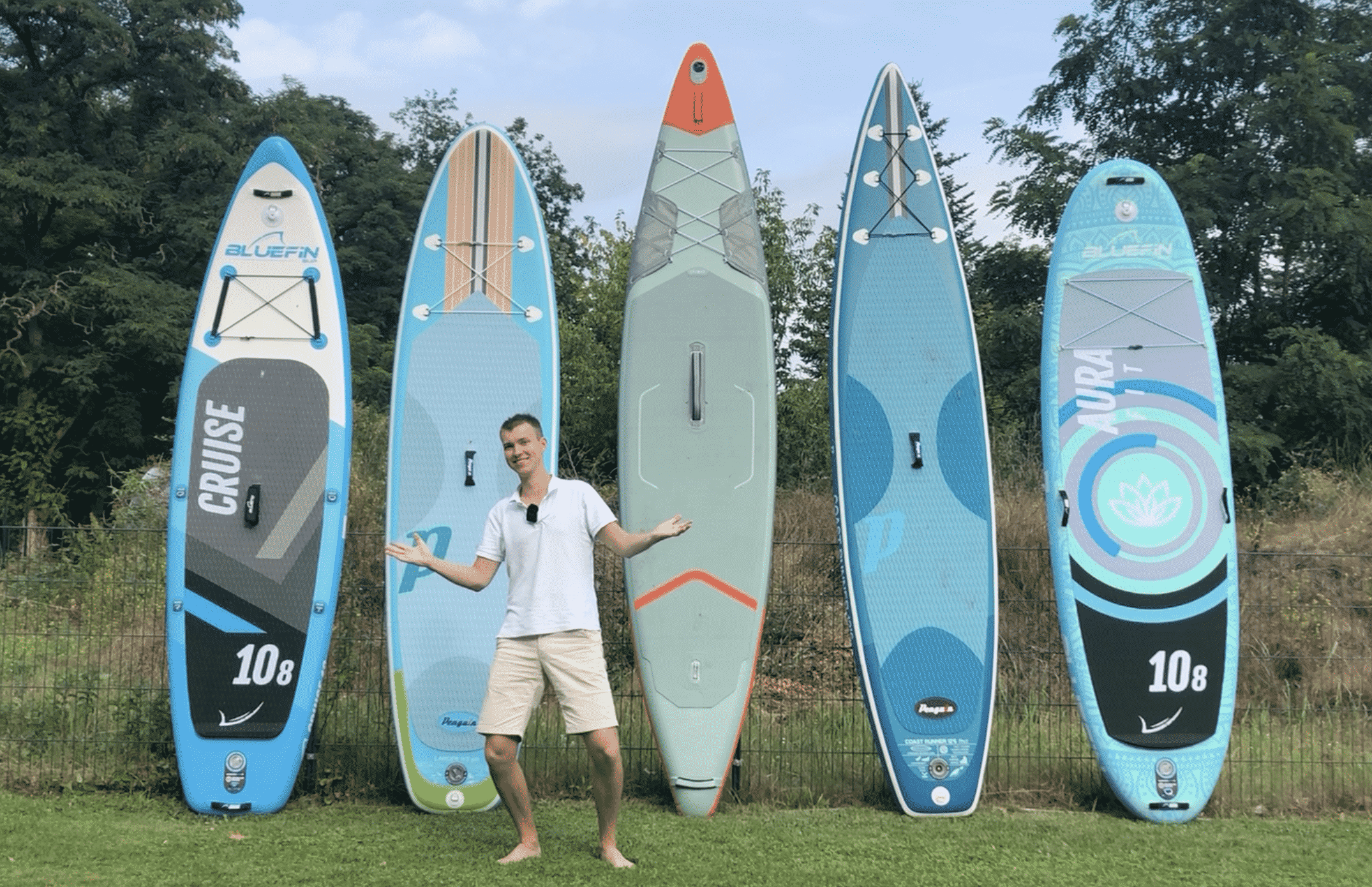 Max mit 5 SUP Boards